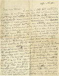 Basketball Collectibles:Others, 1918 James Naismith Handwritten Signed Letter.. Date: April 10, 1918.. Location: France.. Length in pages: Two.. Gen...