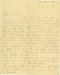 Basketball Collectibles:Others, 1902 James Naismith Handwritten Signed Letter.. Date: July 22,1902.. Location: Lake Geneva, Wisconsin (family expressed...