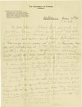 Basketball Collectibles:Others, 1916 James Naismith Handwritten Signed Letter.. Date: June 20,1916.. Location: Fort Riley, Kansas.. Length in pages: ...