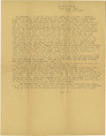 Basketball Collectibles:Others, 1916 James Naismith Typed Letter.. Date: July 12, 1916.. Location:Eagle Pass, Texas.. Length in pages: One.. Genera...