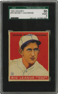 Baseball Cards:Singles (1930-1939), 1933 Goudey Mickey Cochrane #76 SGC VG-EX 50. High-qualitycardboard from the esteemed '33 Goudey issue takes as its focus ...