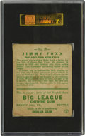 Baseball Cards:Singles (1930-1939), 1933 Goudey Jimmy Foxx #29 SGC VG 40. Jimmy Foxx, one of therenowned members of baseball's slugging royalty, is the subjec...