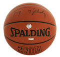 """Basketball Collectibles:Balls, Tracy McGrady Single Signed Baseball. With a skill set that defieslogical explanation for a 6'8"""" shooting guard. T-Mac's ..."""