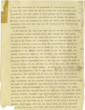 Basketball Collectibles:Others, 1930's James Naismith Typed Manuscript with Handwritten Notes re:Family History. Twenty-three page typed document outlines...