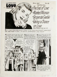 Harvey Romance Comics Contents Page Original Art, Group of 4 (Harvey, 1957). These four striking contents pages from var...