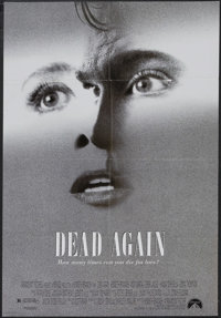 """Dead Again (Paramount, 1991). One Sheet (27"""" X 41"""") Double-Sided. Mystery. Starring Kenneth Branagh, Emma Thom..."""