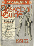 Basketball Collectibles:Others, 1931-32 James Naismith Signed Spalding's Official Basketball Guide.The founder's personal copy of this collectible publica...