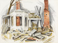 Texas:Early Texas Art - Regionalists, MARGARET TUPPER (1887-1979). Untitled Abandoned House, 1958.Watercolor on paper. 21 x 29 inches (53.3 x 73.7 cm). Signe...