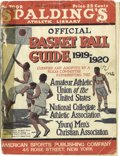 Basketball Collectibles:Others, 1919-20 James Naismith Signed Spalding's Official Basketball Guide.The founder's personal copy of this collectible publica...