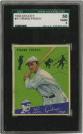 Baseball Cards:Singles (1930-1939), 1934 Goudey Frank Frisch #13 SGC VG-EX 50. Hall of Fame second baseman Frank Frisch has been rendered against a beautiful f...