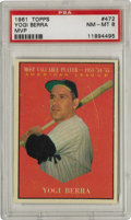 Baseball Cards:Singles (1960-1969), 1961 Topps Yogi Berra MVP #472 PSA NM-MT 8. The MVP card from the '61 Topps issue here features the quirky Yogi Berra. Rat...