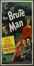 """Movie Posters:Horror, The Brute Man (PRC, 1946). Three Sheet (41"""" X 81""""). Horror. Starring Tom Neal, Jane Adams, Jan Wiley, Peter Whitney, Donald ..."""