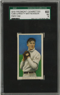 1909-11 T206 Christy Mathewson Dark Cap SGC EX 60. Among the highest-grade T206 Mathewsons that you will likely see in t...