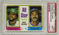 Baseball Cards:Singles (1970-Now), 1974 Topps All-Star Right Fielders R.Jackson/B.Williams #338 PSAMint 9. Unbelievable pack-fresh cardboard from the '74 Top...