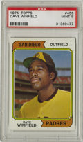 Baseball Cards:Singles (1970-Now), 1974 Topps Dave Winfield #456 PSA Mint 9. Unbelievable athlete DaveWinfield has been faithfully rendered in this pack-fres...