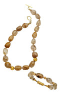 Estate Jewelry:Suites, Rutilated Quartz, Gold Jewelry Suite, Patricia Makena. ... (Total:2 Items)