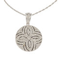Estate Jewelry:Pendants and Lockets, Diamond, White Gold Locket Pendant-Necklace. ...