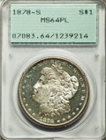 Morgan Dollars: , 1878-S $1 MS64 Prooflike PCGS. PCGS Population (489/151). NGC Census: (708/223). Numismedia Wsl. Price for problem free NG...