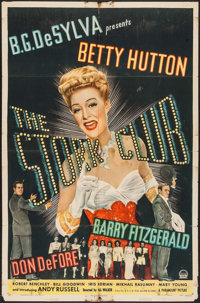 """The Stork Club (Paramount, 1945). One Sheet (27"""" X 41""""). Comedy"""