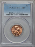 Lincoln Cents, 1971-S 1C MS66+ Red PCGS. PCGS Population (256/22 and 27/3+). NGC Census: (243/30 and 0/0+). Mintage: 525,133,472. Numismed...