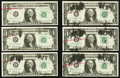 Error Notes:Ink Smears, Fr. 1904-K $1 1969A Federal Reserve Notes. Nine ConsecutiveExamples. Choice Crisp Uncirculated.. ... (Total: 9 notes)