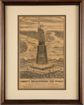 Books:Americana & American History, [New York City]. Liberty Enlightening the World Broadside.N.d.....