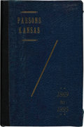 "Books:Americana & American History, [Mrs. Belle Curry]. Parsons, Labette County Kansas, Years From1869 to 1895. Story of the ""Benders"". [Parsons (K..."