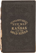Books:Americana & American History, [Otis] Gunn and [David] Mitchell. Gunn & Mitchell's New Mapof Kansas and the Gold Mines....