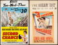"Movie Posters:Thriller, Second Chance & Other Lot (RKO, 1953). Window Cards (2) (14"" X 22"") 3-D Style. Thriller.. ... (Total: 2 Items)"