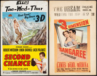 "Second Chance & Other Lot (RKO, 1953). Window Cards (2) (14"" X 22"") 3-D Style. Thriller. ... (Total: 2..."