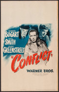 "Movie Posters:Film Noir, Conflict (Warner Brothers, 1945). Window Card (14"" X 22""). FilmNoir.. ..."
