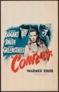 "Conflict (Warner Brothers, 1945). Window Card (14"" X 22""). Film Noir"