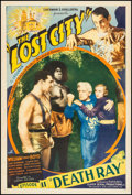 "Movie Posters:Serial, The Lost City (Super Serial Productions, 1935). One Sheet (27"" X 41"") Episode 11 --""Death Ray."" Serial.. ..."
