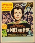 """Movie Posters:Drama, Of Mice and Men (United Artists, 1939). Trimmed Window Card (14"""" X 17.25""""). Drama.. ..."""