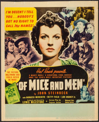 """Of Mice and Men (United Artists, 1939). Trimmed Window Card (14"""" X 17.25""""). Drama"""