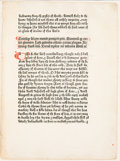 Books:Fine Press & Book Arts, [Grabhorn Press]. An Original Leaf from the Polycronicon printedby William Caxton at Westminster in the year 1482. ...