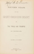 Books:Americana & American History, Mrs. A. M. Green. Sixteen Years in the Great AmericanDesert. Or, the Trials and Triumphs of a Frontier Life.Ti...