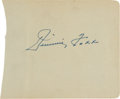 Baseball Collectibles:Others, 1930's Jimmie Foxx Signed Album Page, PSA/DNA Authentic....