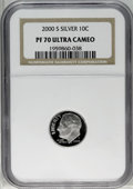 Proof Roosevelt Dimes: , 2000-S 10C Silver PR70 Deep Cameo NGC. NGC Census: (512/0). PCGSPopulation (60/0). Numismedia Wsl. Price: $200. (#95291)...