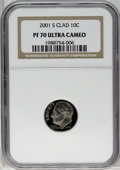 Proof Roosevelt Dimes: , 2001-S 10C Clad PR70 Deep Cameo NGC. PCGS Population (53/0).Numismedia Wsl. Price: $160. (#95292)...