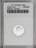 Proof Roosevelt Dimes: , 2003-S 10C Silver PR70 Deep Cameo Full Bands ANACS. PCGS Population(141/0). Numismedia Wsl. Price: $160...