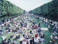 Photographs:20th Century, Massimo Vitali (Italian, b. 1944). Picnic allée, fromLandscape with Figures, 2002. Offset color lithograph.25-7/8 ...