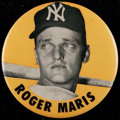 Baseball Collectibles:Pins, 1960's Roger Maris Oversized Pinback Button. ...
