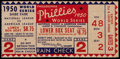Baseball Collectibles:Tickets, 1950 World Series Game 2 Ticket Stub....