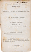 Books:Americana & American History, Lieut. Col. W. H. Emory. Notes of a MilitaryReconnaissance,.... Washington: 1848. First edition. [with:]Large Fo...