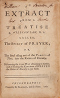 Books:Religion & Theology, [Franklin Imprint]. William Law. An extract from aTreatise...called The Spirit of Prayer; or, The Soul rising out ofth...