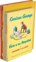 Books:Children's Books, H. A. Rey. Five Curious George Books. Boston: HoughtonMifflin Company, [1941-1966]. Titles are as follows: . ... (Total:5 Items)
