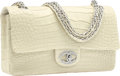 Luxury Accessories:Bags, Chanel Limited Edition Matte White Alligator Diamond Forever FlapBag with 18K White Gold Hardware. Excellent to Pristine ...