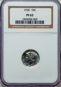 1936 10C PR63 NGC. NGC Census: (72/966). PCGS Population (147/1362). Mintage: 4,130. Numismedia Wsl. Price for problem f...
