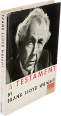 Books:Art & Architecture, Frank Lloyd Wright. A Testament. New York: Horizon Press,[1957]. ...
